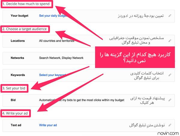 نحوۀ ثبت نام در گوگل ادوردز