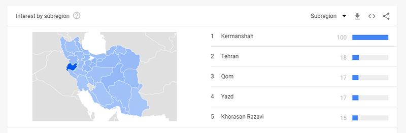 گوگل ترند- هدفگیری جغرافیایی