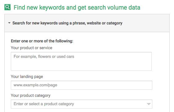 وسیله سئو Google Keyword Planner