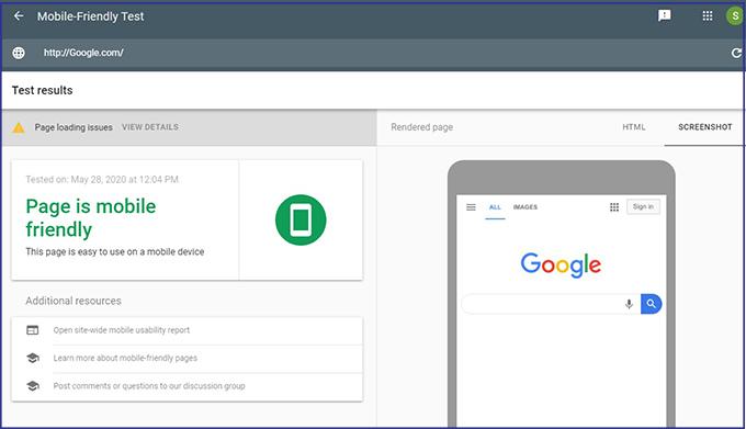 گوگل موبایل فرندلی: ابزار سئو