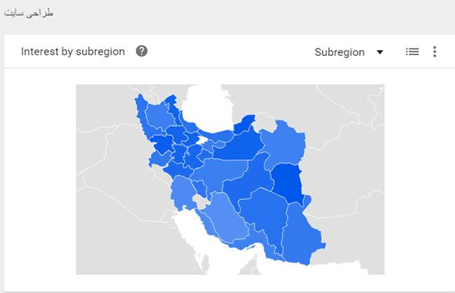 هدفگیری جغرافیایی در گوگل ترند