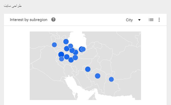 هدف گیری جغرافیایی در گوگل ترند