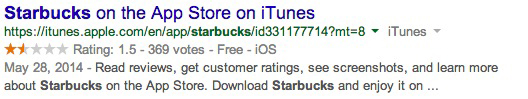 نمونه ریچ اسنیپت استفاده شده در سایت Apple