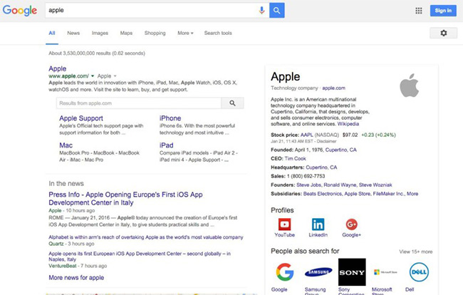 گوگل میتواند نام تجاری شما را از کلمه عادی تشخیص دهد