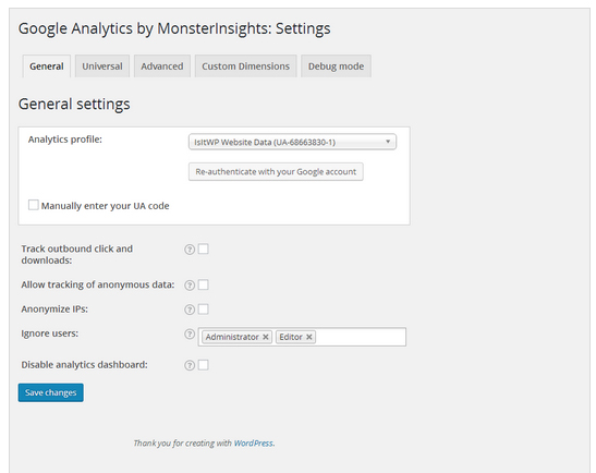افزونه وردپرس Google Analytics by MonsterInsights