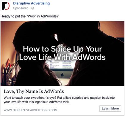 نمونه ای از کمپین تبلیغات کلیکی فیسبوک