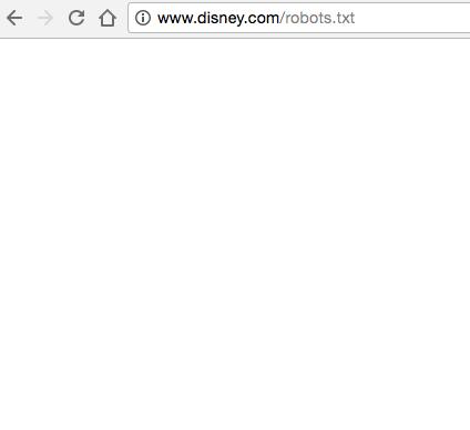 نمونه سایتی که فایل robots.txt ندارد