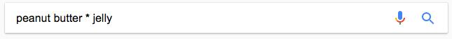 اپراتوز جستجوی * برای دریافت نتایج بهتر در گوگل