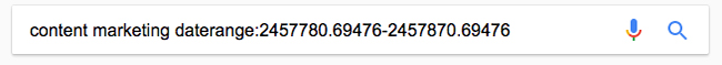 جستجو بر اساس یک بازه زمانی (اپراتور :daterange)