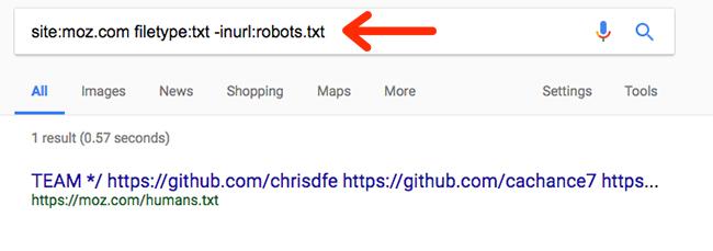 یافتن فایلهای غیر ضروری سایت در گوگل