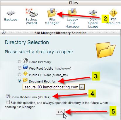 یافتن فایل htaccess.
