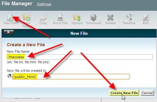 ایجاد و ویرایش فایل htaccess.