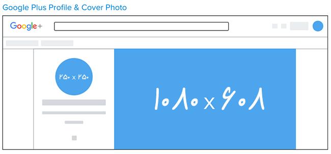 اندازه تصاویر در گوگل پلاس - بهینه سازی تصاویر در گوگل پلاس