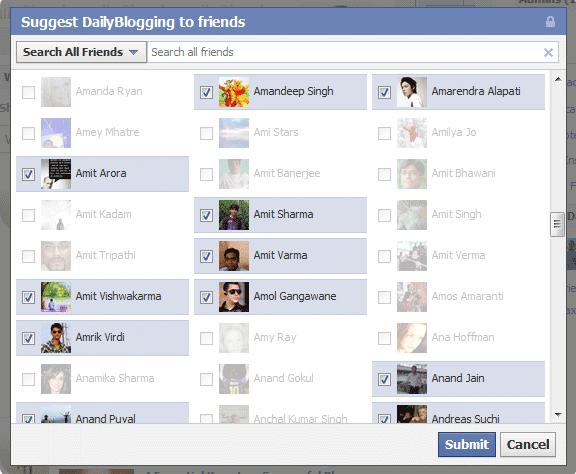 دعوتنامههای شبکهای؛ دعوت از دوستان فیسبوکی