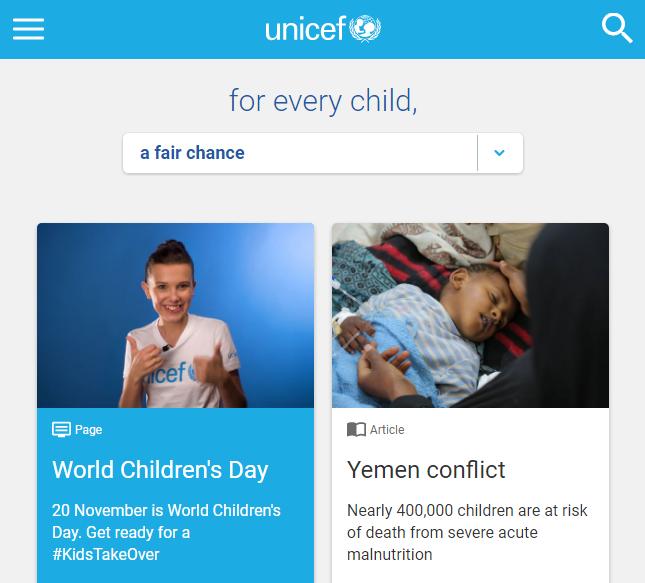 ایمیل مارکتینگ در UNICEF
