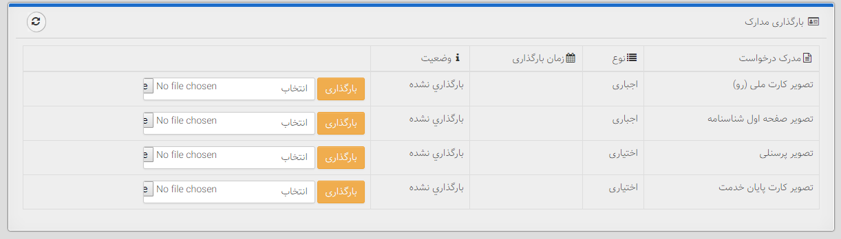 بارگزاری مدارک لازم در وب سایت نشان اعتماد الکترونیکی