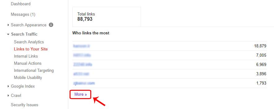 حذف لینکهای اسپم در گوگل وبمستر