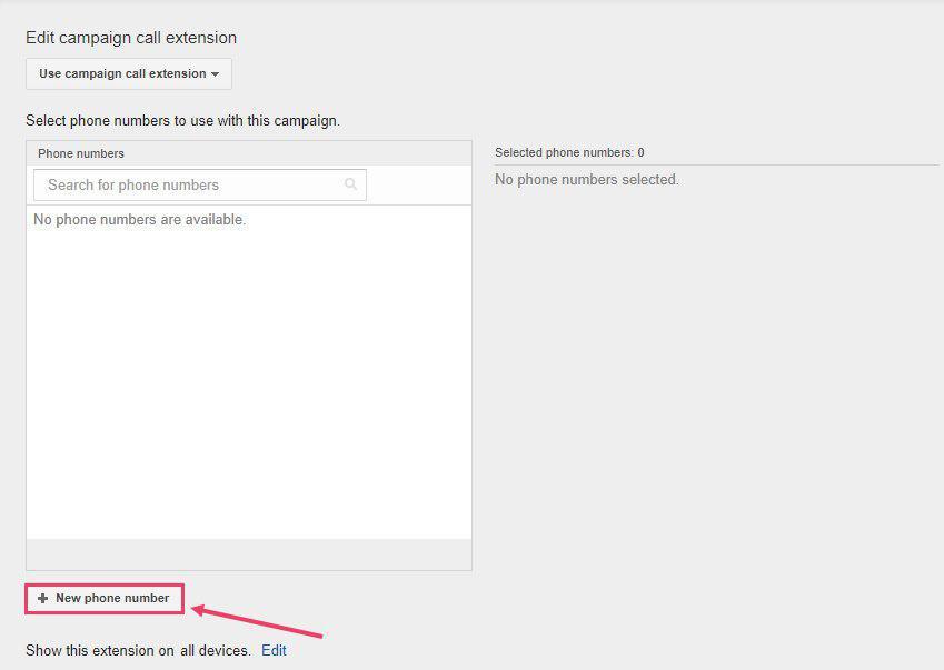 مرحله 4 اضافه کردن شماره تماس به تبلیغات گوگل