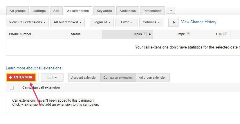 مرحله 3 افزودن شماره تماس به تبلیغات گوگل