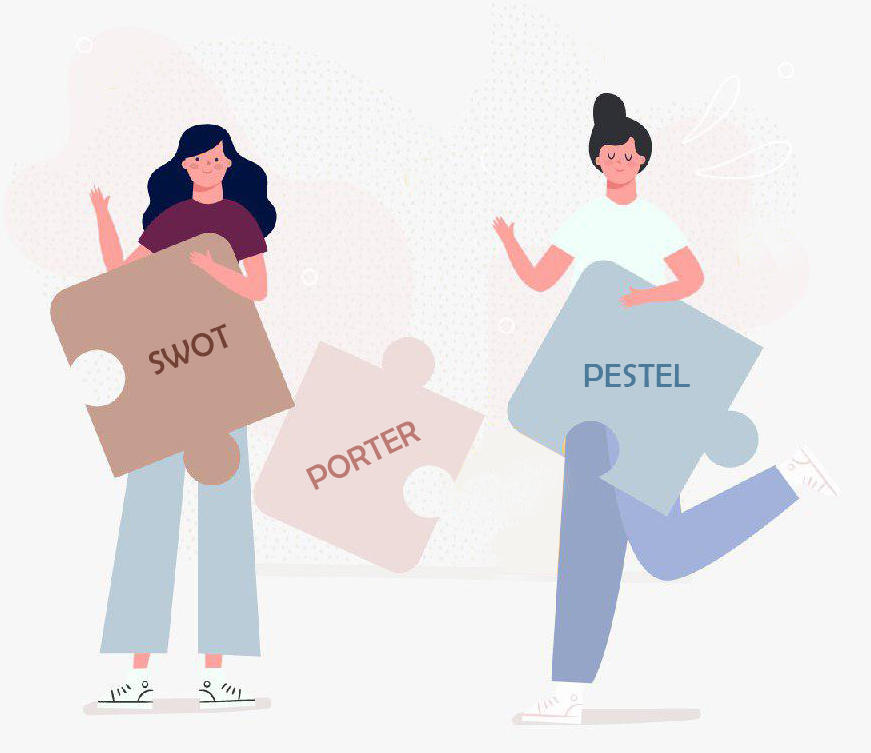 مقایسه-PESTEL-SWOT-PORTER
