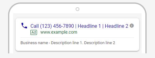 تبلیغ فقط تماس در گوگل ادز