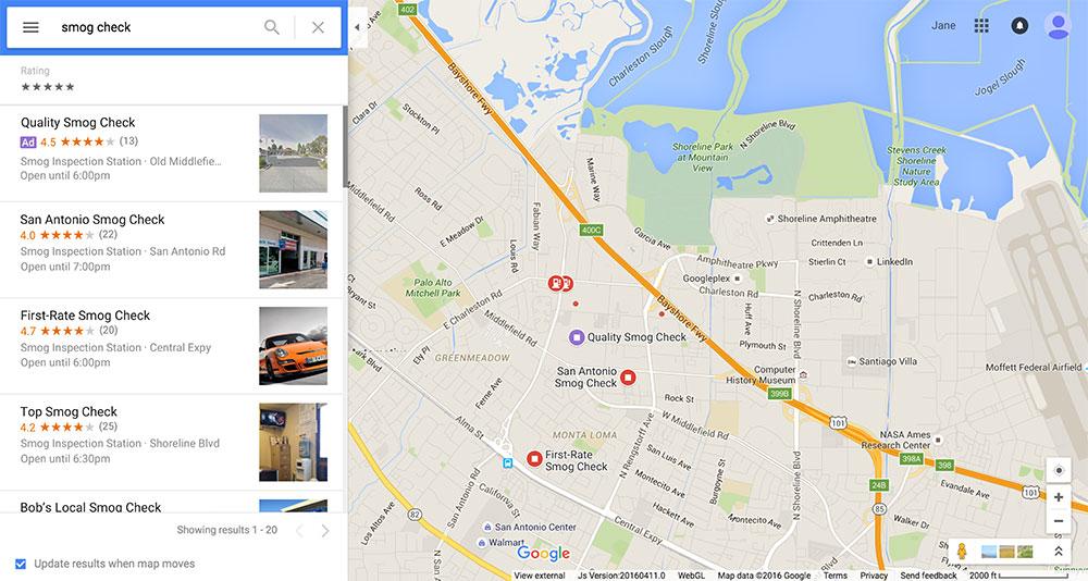 تبلیغ گوگل در شبکه جستجو روی نقشه گوگل