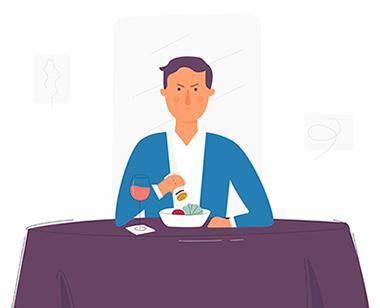 مثال تجربه کاربری بد در رستوران