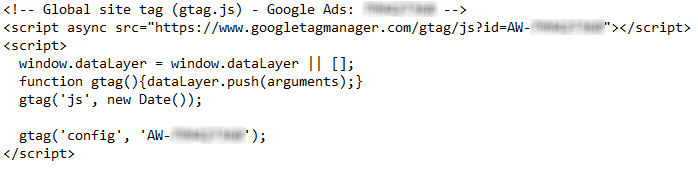 کد گلوبال گوگل ادز