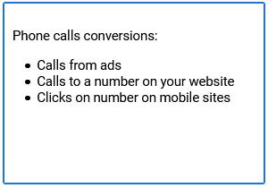 نرخ تبدیل برای تماس کاربران در گوگل ادز
