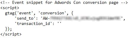 کد بازدید از صفحه گوگل ادز