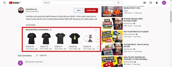 سبد کالا در یوتیوب