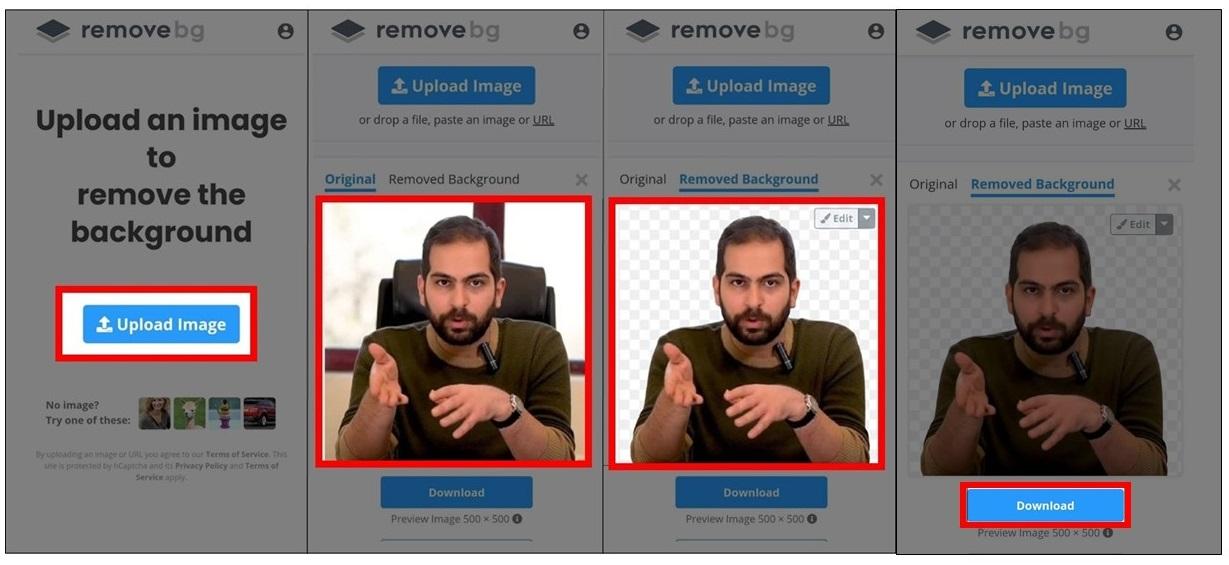 حذف پس زمینه عکس با اپلیکیشن remove bg
